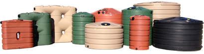Various sizes of rain barrels in Sacramento, CA